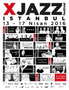XJAZZ 2016 Istanbul Poster